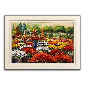 Tela com moldura Floristas - Rosane Theisen