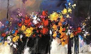 Tela Floral Vibrante - Eliane Pasquetti