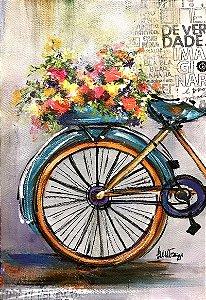 Tela Bicicleta Flores - Luiza Matilde