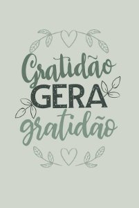 Placa Gratidão Gera Gratidão