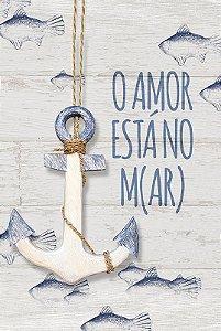 Placa O Amor está no m(ar)