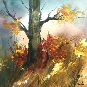 Tela Floresta de Outono I - Marlene Dal Zotto