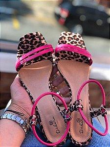 Sandália onça tala pink