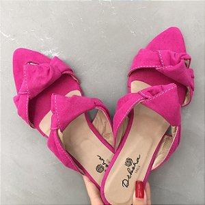 Rasteira Bico Folha Pink