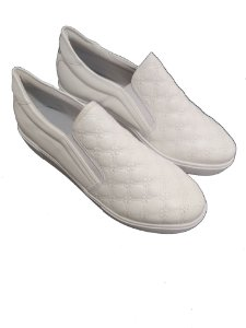 Slip Branco Couro Soft