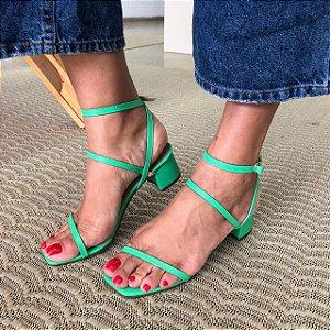 Sandália Tiras Delicadas Kiwi