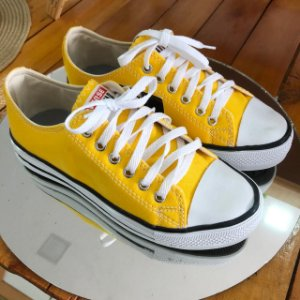 Tênis Casual Amarelo