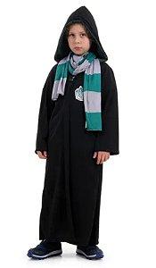 Fantasia Draco Malfoy Sonserina Infantil - Harry Potter