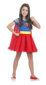 Fantasia Super Mulher Infantil Princesa