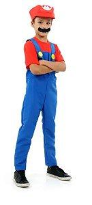Fantasia Mario Bros Infantil Luxo - Super Mario