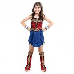 Fantasia Mulher Maravilha Infantil - Liga da Justiça