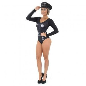 Fantasia Body Policial Adulto