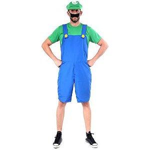 Fantasia Luigi Adulto Verão - Super Mario
