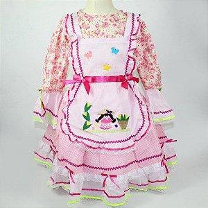 vestido junino floral