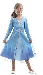 Fantasia Elsa Luxo Frozen 2 Infantil