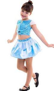 Fantasia Cinderela Cropped Infantil