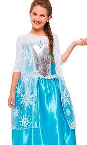 Fantasia Elsa Premium Frozen Infantil