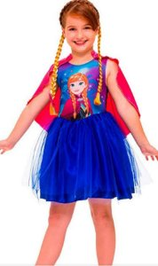 Fantasia Anna Frozen Personagem Infantil 1167