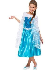 Fantasia Elsa Luxo Frozen Infantil