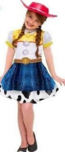 Fantasia Jessie Vestido com Chapeu 2112 Toy Story Infantil