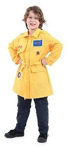 Fantasia DPA Infantil Luxo Amarelo - Bento. Detetives do Prédio Azul