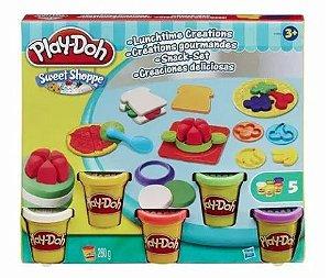 Conjunto de Massa de Modelar - Play-Doh Sweet Shoppe - Lanchinhos Criativos - Hasbro A7659