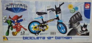 Bicicleta Infantil Aro 12 - DC Comics - Liga da Justiça - Batman Bandeirante