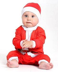 Fantasia Macacão Papai Noel Bebê