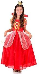 Fantasia Rainha Infantil Luxo