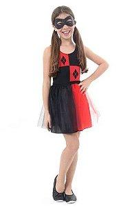 Fantasia Arlequina Infantil Dress Up - Super Hero Girls