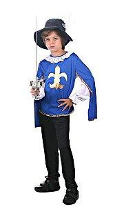 Fantasia Mosqueteiro Azul Infantil