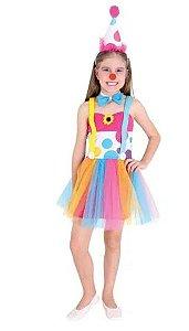 Fantasia Palhacinha Vestido Infantil