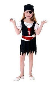 Fantasia Pirata Vestido Feminino Infantil