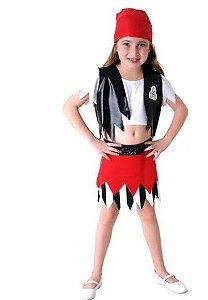 Fantasia Pirata Feminino Infantil