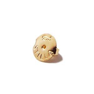 Tarraxa grande personalizada Stilla folheada a ouro 18K hipoalergênico (par)