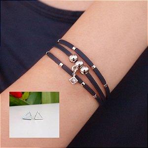 Composição 2 produtos (Brinco triângulo e pulseira)