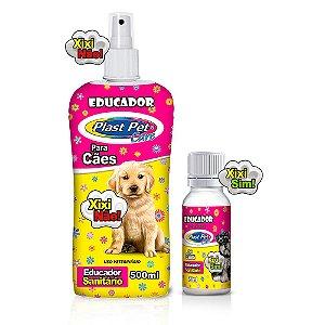 Educador Sanitário Para Cães Xixi Não 500ml + Xixi Sim 20ml Plast Pet