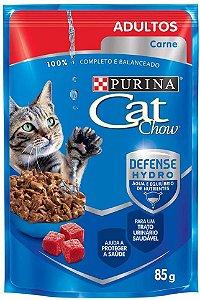 Ração Úmida Nestlé Purina Cat Chow para Gatos Adultos Sachê de Carne ao Molho - 85g