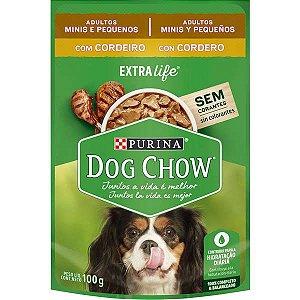 Ração Úmida Nestlé Purina Dog Chow Cordeiro e Arroz - Para Cães de Raça Pequena 100g