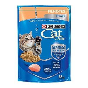 Ração Úmida Nestlé Purina Cat Chow para Filhotes - Sachê Frango ao molho 85g