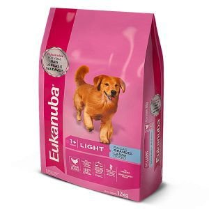Ração Eukanuba Light Para Cães de Raças Grandes 12 Kg