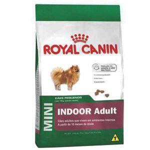 Ração Royal Canin Mini Indoor Adult - Para Cães Adultos de Raças Pequenas Em Ambientes Internos 1Kg