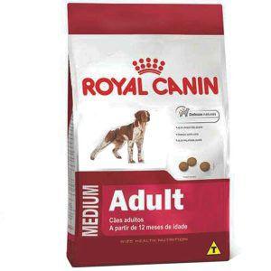 Ração Royal Canin - Medium Adult - Para Cães Adultos de Raças Médias A Partir de 12 Meses de Idade 15Kg