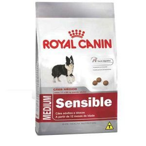 Ração Royal Canin Medium Sensible - Para Cães Adultos Ou Idosos Sensíveis de Raças Médias 15Kg