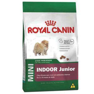 Ração Royal Canin - Mini Indoor Junior - Para Cães Adultos de Raças Pequenas Em Ambientes Internos 1Kg