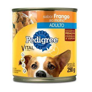 Ração Pedigree Lata - Frango Ao Molho - Para Cães Adultos 290 Gr