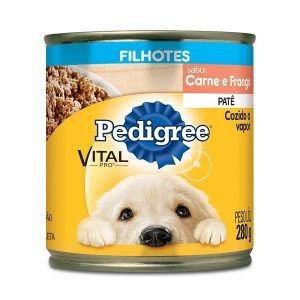 Ração Pedigree Lata - Patê de Carne e Frango - Para Cães Filhotes 290g