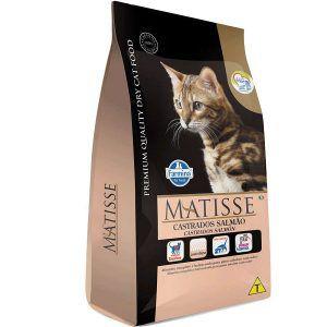 Ração Farmina Matisse Salmão e Arroz Para Gatos Adultos Castrados 800g