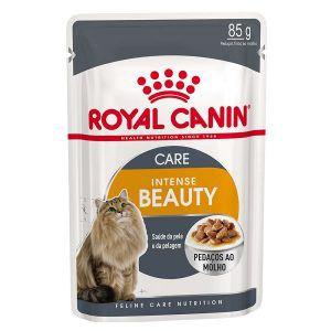 Ração Úmida Royal Canin - Sachê Feline Intense Beauty - Para Gatos 85g