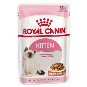 Ração Úmida Royal Canin - Sachê Feline Kitten Instinctive - Para Gatos Filhotes com Ate 12 Meses 85g